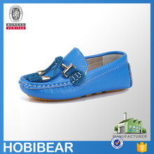 HOBIBEAR OEM hight quality leather children casual flat shoe kid loafer shoes