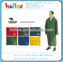 100% pvc waterproof raincoats Jenny adult pvc rain coat