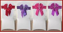 wedding polyester chair covers and organza sash,wedding sashes wedding chair cover at factory price