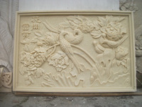 carved stone wall art decoration