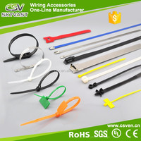 Manufacturer PA66 cable ties with label red green white black free sample self lock plastic tie nylon cable tie szies