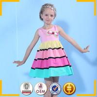 best selling korean children clothing newest fashion stripe tutu dress girl dress