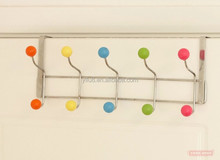 Fashinable and convenient plastic balls clothes hook ,hat and towl hanger without screws