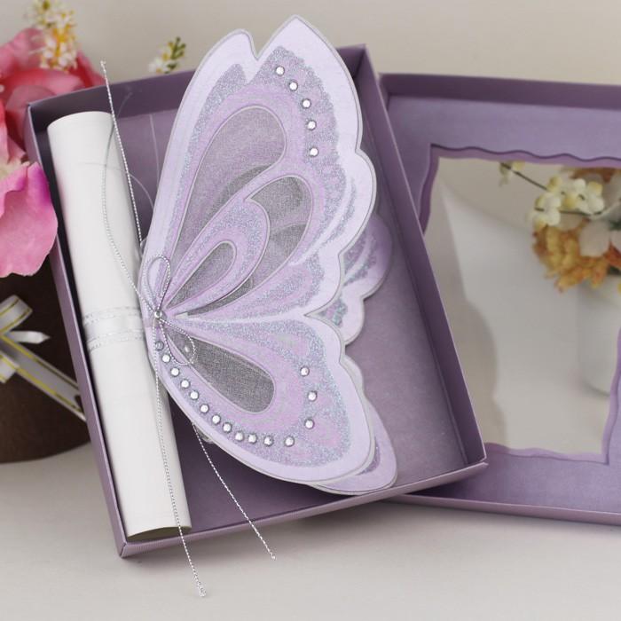 2016 new design 3d butterfly scroll wedding decoration box wedding