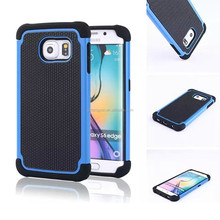 Luxury tough Tpu pc hybrid hard back cover case for S6 edge