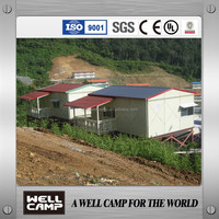 Typhoon Resistant Luxury Prefab Steel Building Houses K Type Prefabricated Home