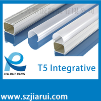 T5 led integrate tube light shells/housing/accessories/parts/components with factory price