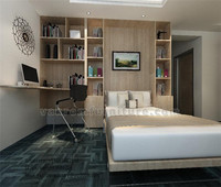 Contemporary murphy bed melamine finish Twin size with bookcase vanrom furniture
