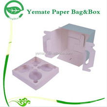 high end stready decorative cute birthday cake food grade paper box with handle and inner tray