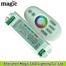 12V 216W, 24V 432W, 4channel 6A/CH one remote can controlled seperatly 4 group 2.4G 4 zone touch rgbw controller