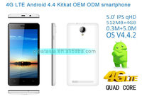 2015 best selling lte 4g smartphone MTK 6582M +MTK 6290 Quad core android 4.4 smart phone