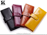 SK-7041 wholesale Pure leather card holder with plastic place business card holder