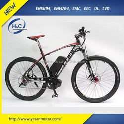 """High Speed and Long distance new 36V 500W 26"""" electric mountain bike with hidden battery"""