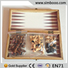 Wooden Travel Mini Chess Set Draughts 3 in 1 Backgammon Educ Toys for Children 39*19.5*4.5CM
