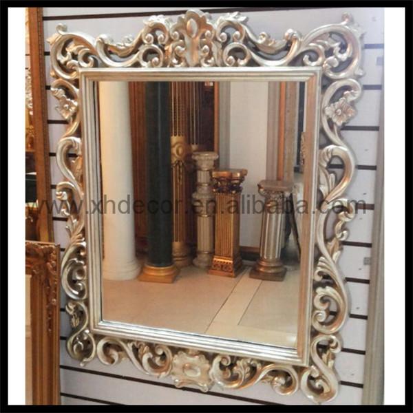 N oclassique style rectangulaire sculpt mur miroir avec for Miroir 2 metre