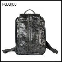 2015 new design chrome tanned leather backpack school bag
