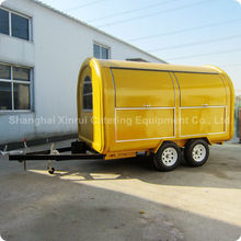 China Mobile Yellow Food&Porridge&Fruits Trailer Cart Manufacturer XR-FC350 D
