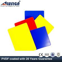 Alusign color aluminium composite panel exterior wood composite wall panels