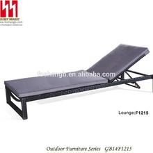 Antiguo de la rota exterior diván chaise lounge doble sol sillas