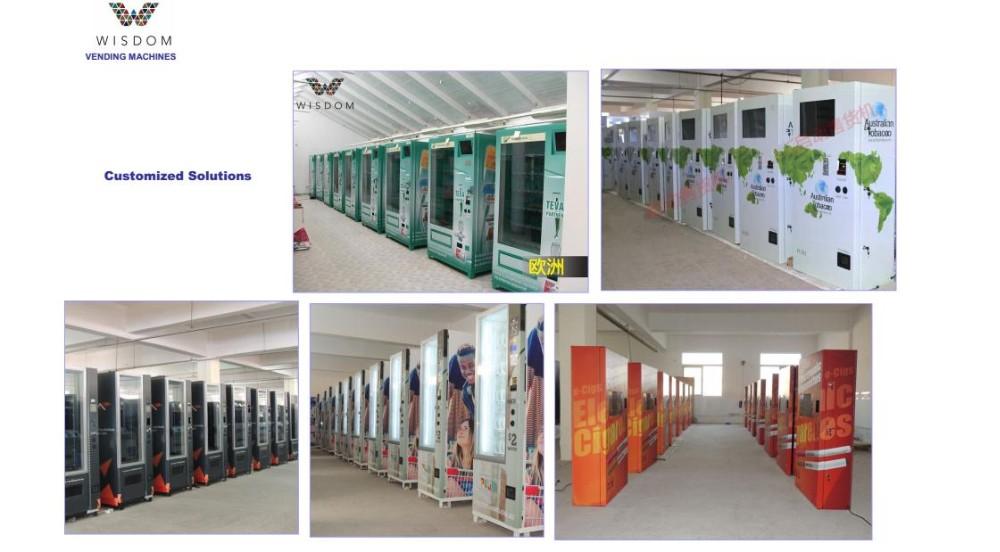 Pequeno muro montado estação de carregamento moeda operado