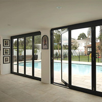 Accordion aluminum glass patio exterior folding doors