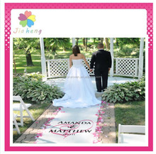 personalized design nonwoven fabric for wedding aisle runner