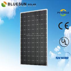 BlueSun chinese factory wholesale 36v 300w suntech photovoltaic panel solar monocrystalline