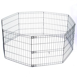 Large Dog Cage Solid Metal Dog Kennel Puppy Run Kennel