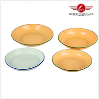 2015 Hot Sale Plain Plate 26cm Enamel Bulk White Porcelain Dinner Plate Salad Plate