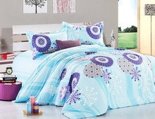 Trade Assurance 100%cotton print fabric for 7pcs comforter bed sheet set/comforter/pillow cases