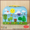 Cardboard printing lovely small suitcase gift box with handle