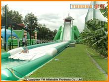 giant commercial inflatable water park with long slide