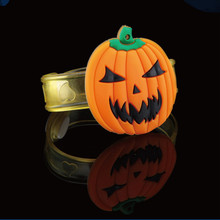 Halloween party Item, Halloween flashing bracelet, flashing pumpkin bracelet