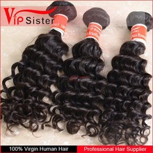 Most Popular Wholesale Price Virgin Remy tangle free indian deep curly hair