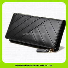 15452 Brand name embroidered genuine leather women wallet
