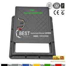 B125 square water meter cover / plastic fiber glass manhole cover