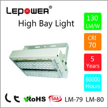 5 Years Warranty LED High Bay Light 100W High Light Efficiency 120-130lm/w Meanwell Driver,