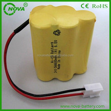rechargeable ni-cd aa 600mah 6.0v battery pack