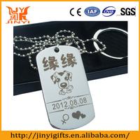 Promotion custom made metal military dog tags
