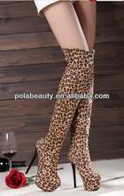 sexy lady zapatos de leopardo de la moda caliente a largo botas de arranque baratos pdz2653