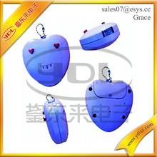 Nice design heart shape voice recorder for keychain