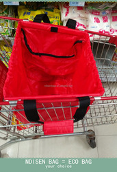 Large Supermarket Cart Bag/Shopping Cart Bag / Polyester Cart Bag/Cart Tote Bag/Practical Shopping Bag/Shopping Cart Tote