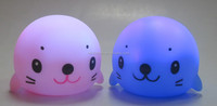 plastic Sea Lion baby rubber toy for kids LED