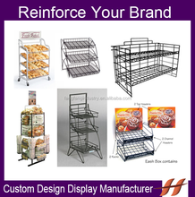 Custom Metal Bread Display Racks/ Factory Supply Bread Display Stand