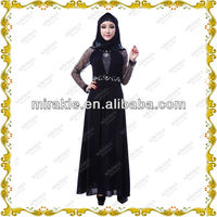 MF21272 black abayas design work.