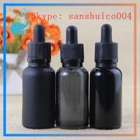 Hot SALES! black sterile eye dropper bottles glass dropper bottle with dropper child&tamper proof for eliquid