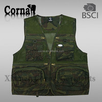 Camouflage fishing vest/waistcoat