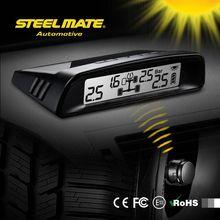 2015 SteelmateTP-S1 solar power tpms cigarette lighter brands, tire pressure phone, Tire Air inflator Gauge