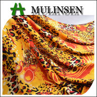 Mulinsen Textile New Design Knitting Printed Polyester FDY Streched Turkish Fabric