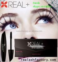 Say goodbye to eyelash extenison REAL PLUS 3D fiber lash mascara/nickel free mascara/most popular products on the market